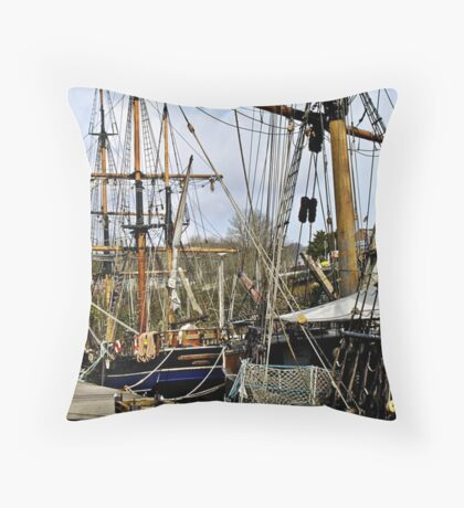 """ Charlestown Harbour Cornwall"" Throw Pillow"