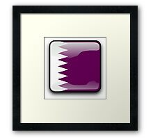Qatar Flag, Icon Framed Print