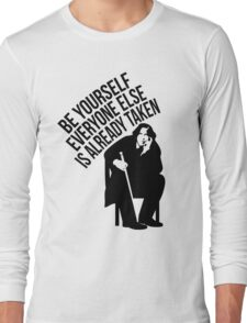 Oscar Wilde - Quote Series. Long Sleeve T-Shirt