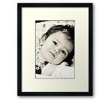 Livia's smile Framed Print