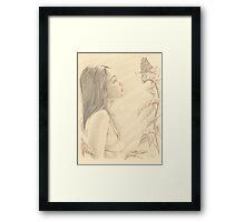 """Butterfly"" Colour Pencil Art Framed Print"