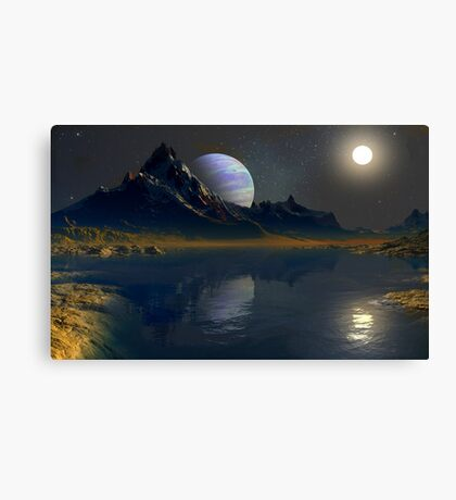 Worlds of the Blue Giant Canvas Print