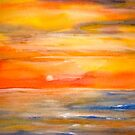 Landscape Abstract...Lake Superior Sun by  Janis Zroback