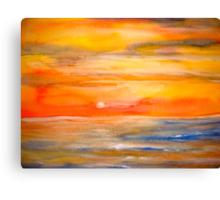 Landscape Abstract...Lake Superior Sun Canvas Print