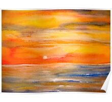Landscape Abstract...Lake Superior Sun Poster