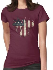 American Eagle - White Womens Fitted T-Shirt