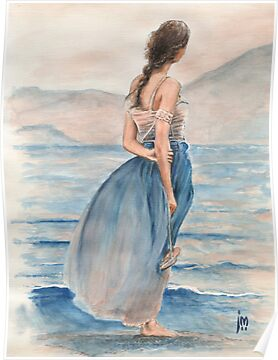 """Evening Light"" Water Colour Painting. by John D Moulton"