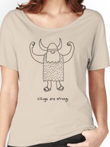 Vikings are strong black and white drawing Women's Relaxed Fit T-Shirt