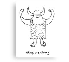 Vikings are strong black and white drawing Metal Print