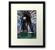 Beneath the Nine Daughters Hole - Ballybunion Framed Print