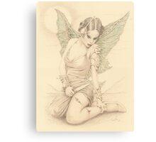 """Fairy Warrior"" Colour Pencil Artwork Canvas Print"