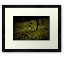 Three Crosses in Wells Framed Print