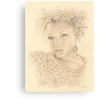 """Gloria"" Colour Pencil Artwork Canvas Print"