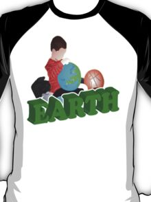 Boy Playing Earth T-Shirt