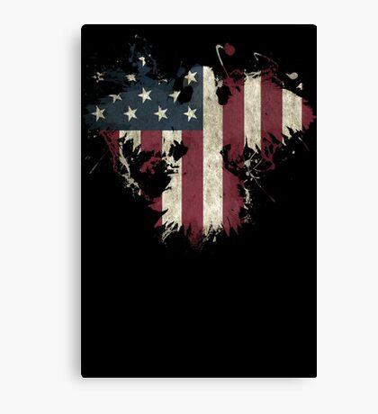 American Eagle - Black Canvas Print