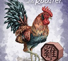 Year of the Rooster Card by Stephanie Smith