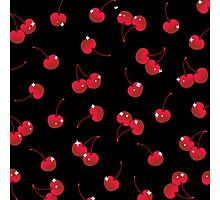 Cherry Red Soda in Midnight Photographic Print
