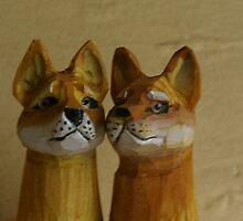 Carved Tasmanian Tiger Pens by WolfieRankin