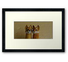 Carved Tasmanian Tiger Pens Framed Print