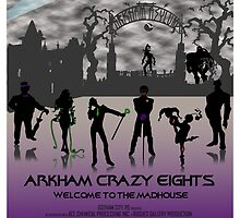 Arkham Crazy Eights Poster by RaddSurfer
