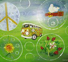 Last Bus to Woodstock '69 by Barbara  Mangum-McElveen