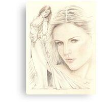 """Medieval Dream"" colour Pencil Artwork Canvas Print"