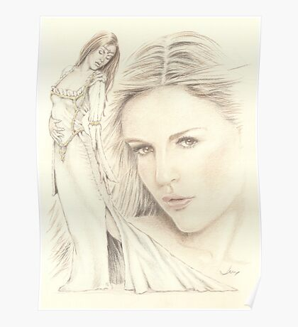 """Medieval Dream"" colour Pencil Artwork Poster"