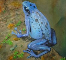 Electric Blue Poison Dart Frog by icansketchu