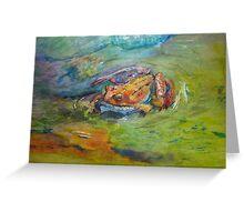 Rainbow Dart Frog Painting in Watercolor Greeting Card