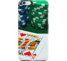 Playing cards Poker chips and pair of Dice. iPhone Case/Skin