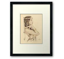 """Tanisha"" Colour Pencil Artwork Framed Print"