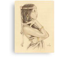 """""""Tanisha"""" Colour Pencil Artwork Canvas Print"""