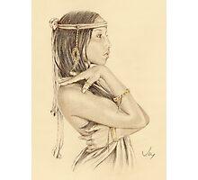 """Tanisha"" Colour Pencil Artwork Photographic Print"