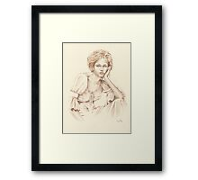 """""""Thoughtfulness"""" Colour Pencil Art Framed Print"""