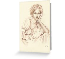 """Thoughtfulness"" Colour Pencil Art Greeting Card"