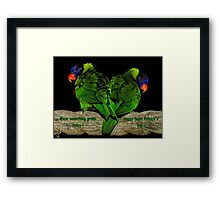 Wear Something Green Today ! Framed Print