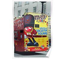 Double-Decker Bus, London Poster