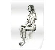 sitting model Poster