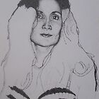 Stippling of Patricia WIP2 by LTScribble