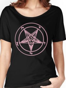 Pink Baphomet Women's Relaxed Fit T-Shirt