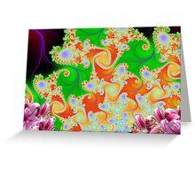 Floral Design Scene Display # 1 Greeting Card