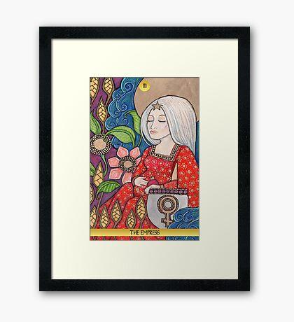 III The Empress Tarot Card Framed Print
