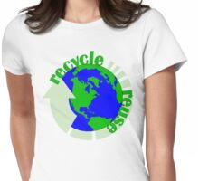 Recycle Reuse Womens Fitted T-Shirt