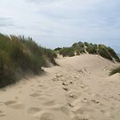 Footprints In The Sand, Formby  by Amy  Lanza