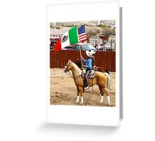 Presentation of the Flags Greeting Card