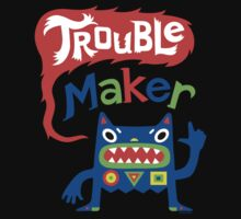 Trouble Maker - dark Baby Tee