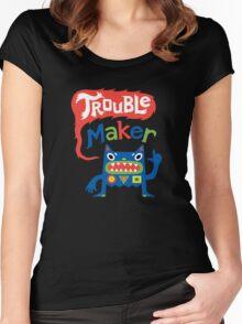 Trouble Maker - dark Women's Fitted Scoop T-Shirt
