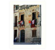 Italian Architecture, Sardinia, Italy Art Print