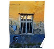 Discarded window in Bratislava Poster