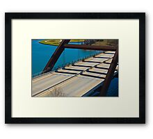A close look at the Rusty 360 bridge Framed Print